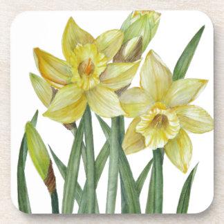 Dessous-de-verre Illustration de portrait de fleur de jonquilles