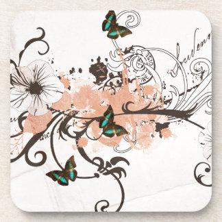 Dessous-de-verre Illustration des papillons et des motifs sales