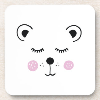 Dessous-de-verre Illustration mignonne d'ours