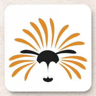 Dessous-de-verre Illustration solaire de lion, drôle, bande