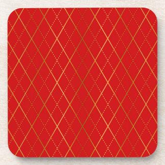 Dessous-de-verre Jacquard (rouge)