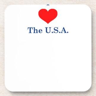 Dessous-de-verre J'aime les Etats-Unis