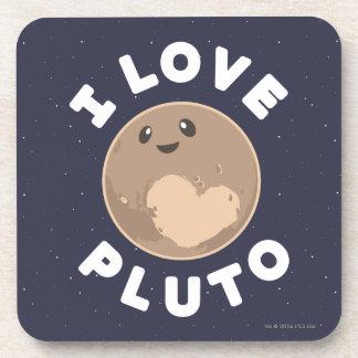 Dessous-de-verre J'aime Pluton