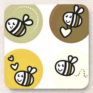 Dessous-de-verre Jaune merveilleux d'abeilles de vol