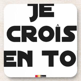 Dessous-de-verre Je croîs en Toi - Jeux de Mots - Francois Ville
