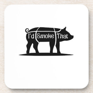 Dessous-de-verre Je fumerais ce barbecue de BBQ de porc de porc
