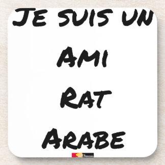 Dessous-de-verre JE SUIS UN AMI RAT ARABE - Jeux de mots