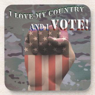 Dessous-de-verre Je vote