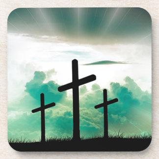 Dessous-de-verre Jésus s'est levé (trois croix)