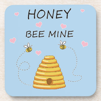 Dessous-de-verre Jour de Valentines de mine d'abeille