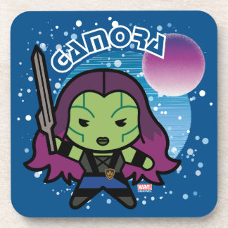 Dessous-de-verre Kawaii Gamora dans l'espace