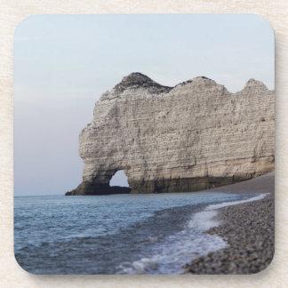 Dessous-de-verre La côte aux falaises d'Aval d'Etretat
