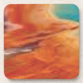 Dessous-de-verre la couleur mélangent dedans la palette de natures