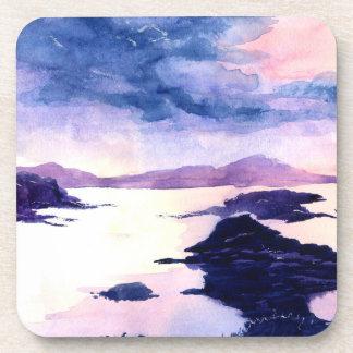 Dessous-de-verre La couleur pour aquarelle pourpre de Loch Lomond a