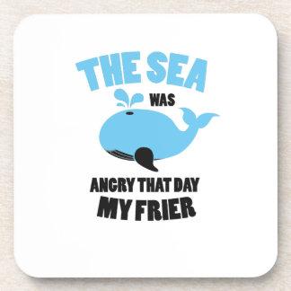 Dessous-de-verre La mer était fâchée que jour mes amis drôles