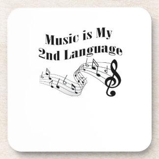Dessous-de-verre La musique est mon 2ème cadeau de musique d'amour