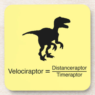 Dessous-de-verre la science drôle de velociraptor