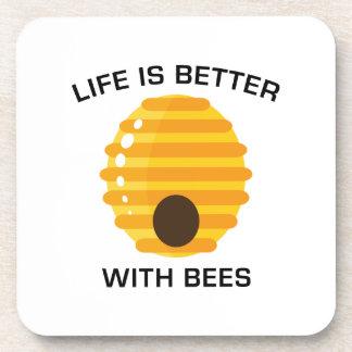 Dessous-de-verre La vie est meilleure avec des abeilles