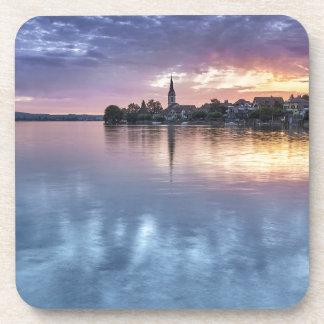 Dessous-de-verre la ville de Noël du Lac de Constance allume le