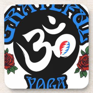 Dessous-de-verre La vitesse reconnaissante de logo de yoga