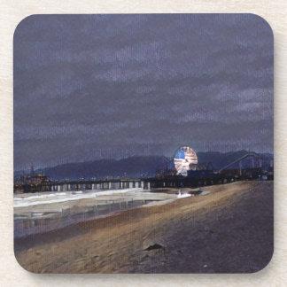 Dessous-de-verre L'Américain Ferris roulent dedans Santa Monica