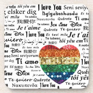 Dessous-de-verre Langues étrangères d'amour