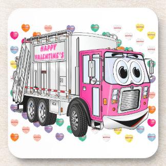 Dessous-de-verre Le camion à ordures 3D de Valentine