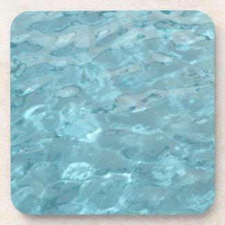 Dessous-de-verre L'eau abstraite de piscine d'Aqua de photographie