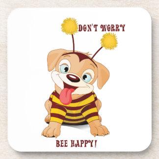Dessous-de-verre Les abeilles d'amants de chiots de chien ne