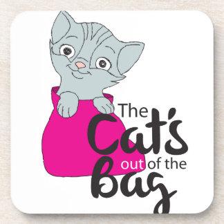 Dessous-de-verre Les chats hors du sac