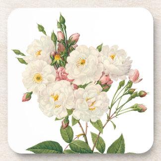 Dessous-de-verre Les fleurs vintages florales rougissent Noisette