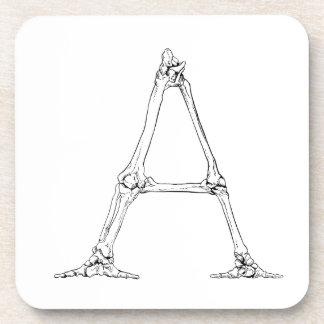 Dessous-de-verre Lettre d'os - A