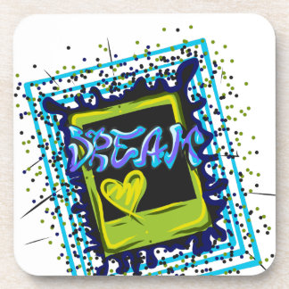 Dessous-de-verre Lettres rêveuses de graffiti