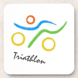 Dessous-de-verre Logo de triathlon