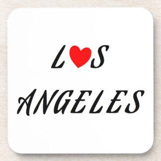 Dessous-de-verre Los Angeles coeur rouge