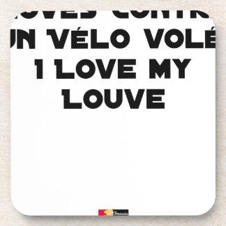 Dessous-de-verre Lové contre un Vélo Volé, I Love my Louve