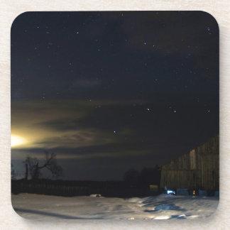Dessous-de-verre Lueur de soirée d'hiver