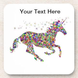 Dessous de verre lumineux de licorne
