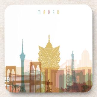 Dessous-de-verre Macao, horizon de ville de la Chine |