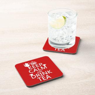 Dessous-de-verre Maintenez thé calme et de boissons - toutes les