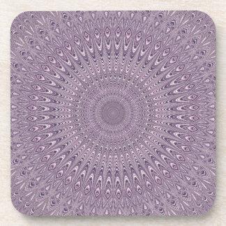Dessous-de-verre Mandala pourpre en pastel