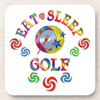 Dessous-de-verre Mangez le golf de sommeil