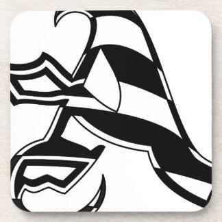 Dessous-de-verre Marquez avec des lettres une conception