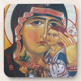 Dessous-de-verre Mère Mary et art de Jésus
