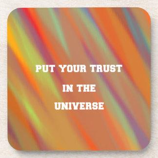 Dessous-de-verre Mettez votre confiance dans l'univers