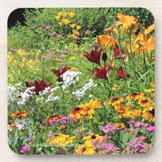 Dessous-de-verre Mi jardins colorés d'été !