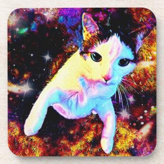 Dessous de verre mignons colorés de disco de Kitty
