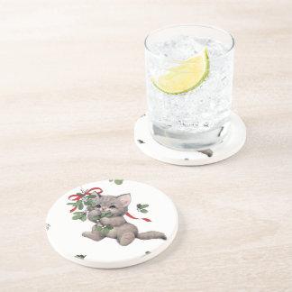 Dessous de verre mignons de boissons de grès de