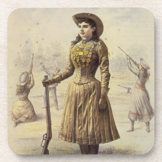 Dessous-de-verre Mlle vintage Annie Oakley, cow-girl occidentale