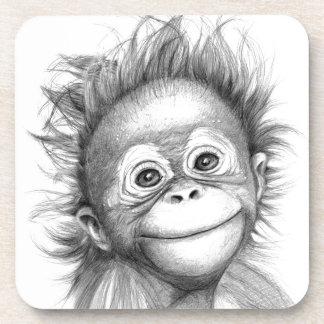 Dessous-de-verre Monkey - Baby Orang outan 2016 G-121